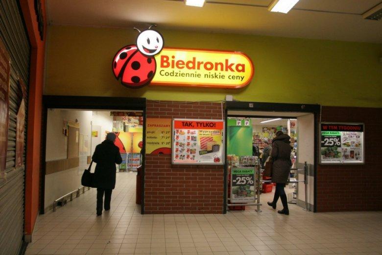 Market Biedronka na poznańskim Starym Dworcu.