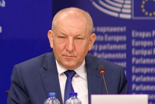 Ryszard Florek, prezes Fakro, na konferencji w Parlamencie Europejskim