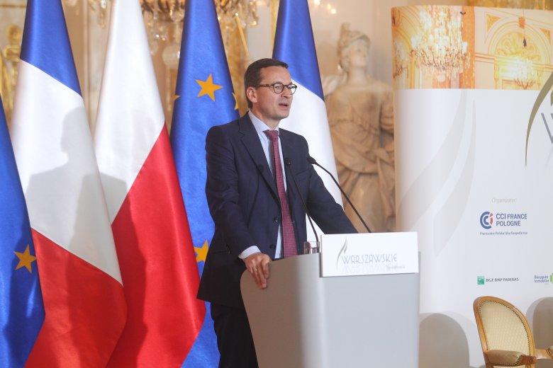 """Premier Mateusz Morawiecki był gościem specjalnym Forum francusko-polskiego """"Era robotów. Czy nadchodzi nowa rewolucja?""""."""
