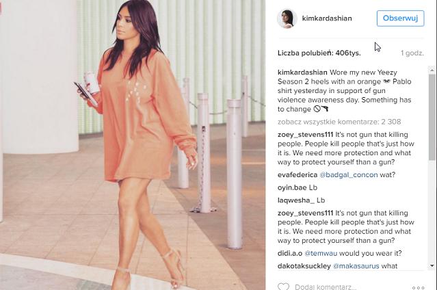 Profil Kim Kardashian śledzi ponad 70 milionów fanów