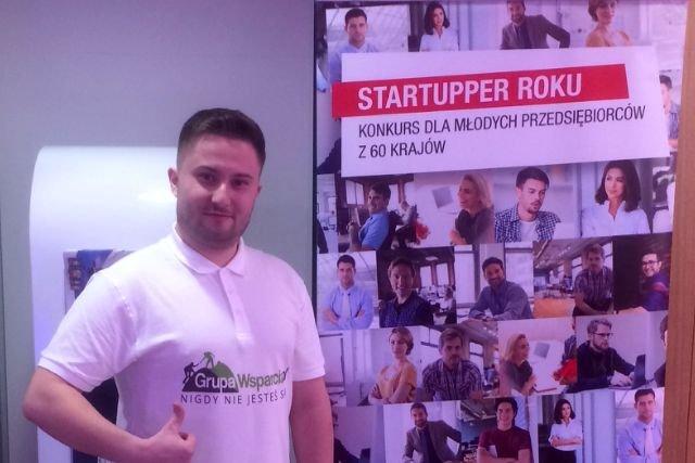"""- Sam fakt, że portal GrupaWsparcia.pl został """"Startupem Roku w Polsce"""" daje takiego niezłego kopa do dalszych działań oraz jest potwierdzeniem, że to co robimy ma sens i podoba się coraz większej publiczności - mówi Juszczyk"""
