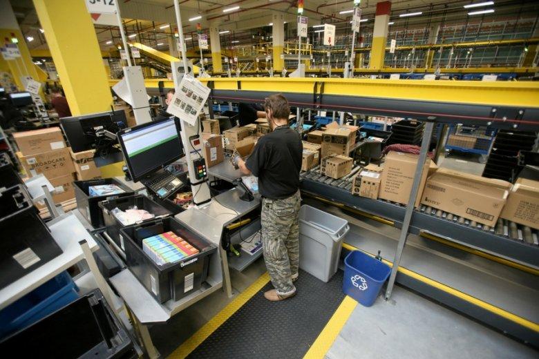 Centrum logistyczne firmy Amazon w Szczecinie-Kołbaskowie.