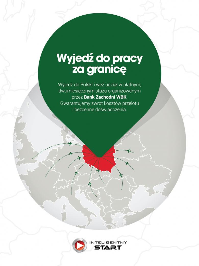 Plakat programu płatnych letnich praktyk w BZ WBK