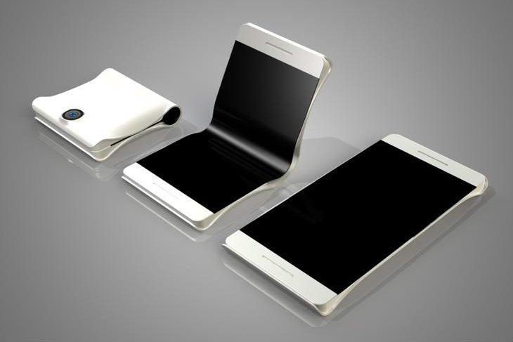 Koncept składanego składanego smartfona stworzony przez Coroflot