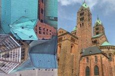 Katedra w Spirze: w wizualizacji Google Earth i w rzeczywistości.