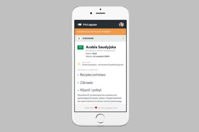 Tak będzie wyglądała aplikacja mobilna MyLuggage