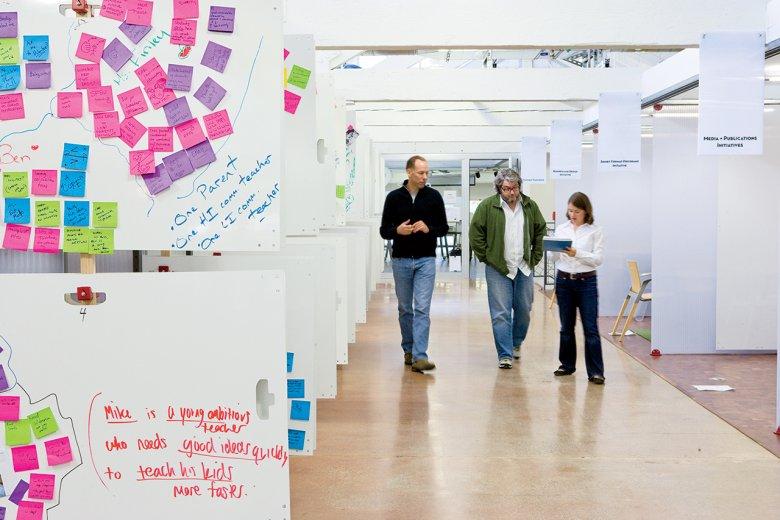 Obszar do prototypowania produktów i usług w szkole designu Stanford.