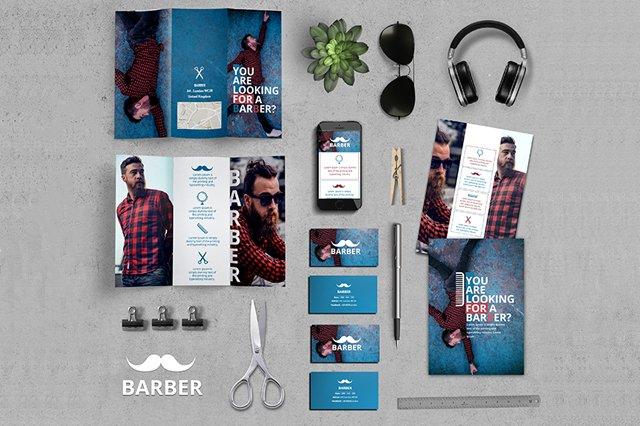 MockUp dla fryzjera