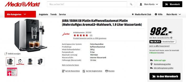 Cena ekspresu w niemieckim Media Markt