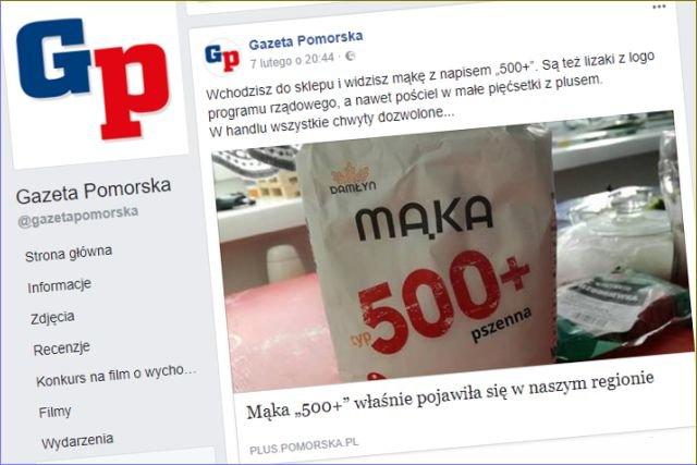 """W wielkopolskich sklepach pojawiła się mąka o nazwie """"500+"""". Aktualnie jest hitem sprzedaży."""