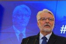 Minister Spraw Zagranicznych, Witold Waszczykowski.