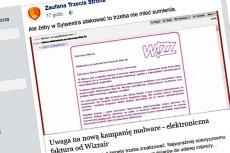 Autor kampanii ransomware podszywa się pod linie lotnicze Wizzair, prawdopodobnie wychodząc z założenia, że wiele osób podróżuje na święta i z powrotem.