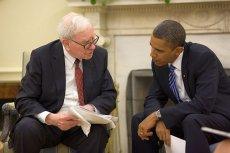 Warren Buffett i Barack Obama w Gabinecie Owalnym. Buffett 80 proc. sowjego czasu przeznacza na czytanie i rozmyślanie