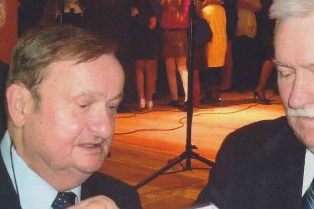 Zbigniew Laskus z prezydentem Lechem Wałęsą