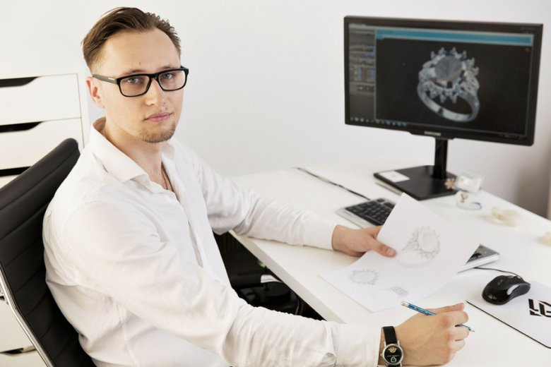 Marcin Nowak, projektant nagrodzony w 2018 Solidscape Design Competition.