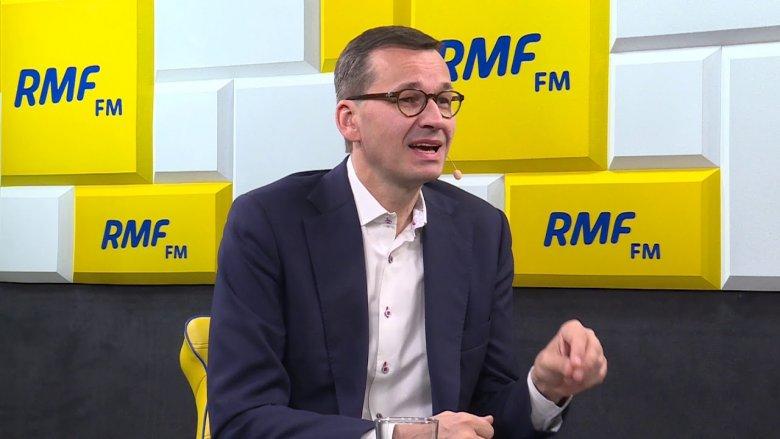Wywiad Premiera Mateusza Morawieckiego dla stacji RMF FM.
