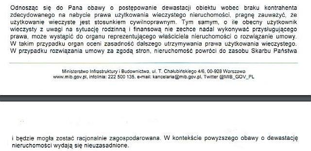 MInisterstwo proponuje, by właścicielka oddała halę Skarbowi Państwa, jeśli nie stać jej na utrzymanie