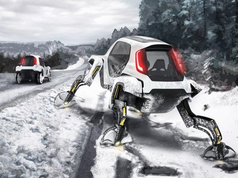 Hyundai Elevate, lub też Hyndai Ultimate Mobility Vehicle. Konceptowy samochód przyszłości z nogami, zaprezentowany na targach CES 2019 r.