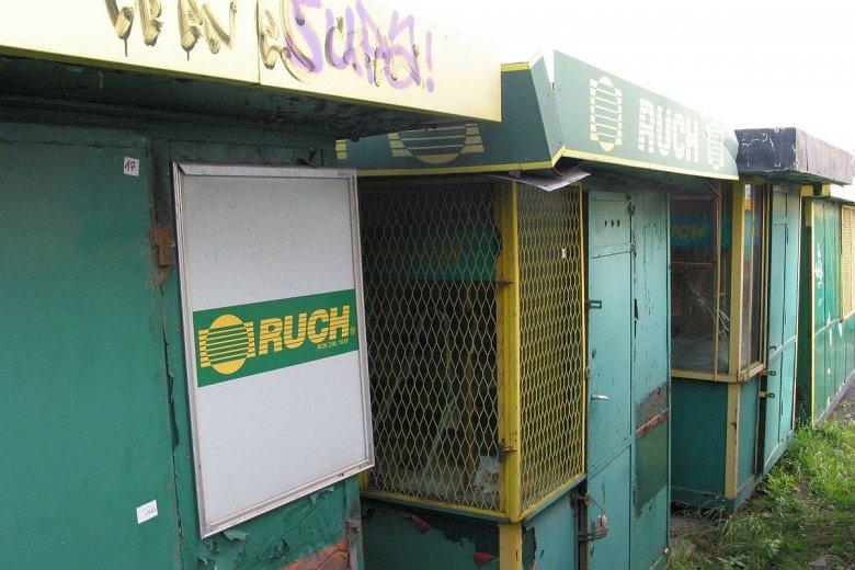 Pod Łodzią można znaleźć cmentarzysko kiosków Ruchu