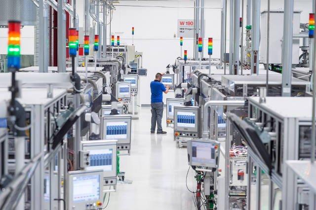 Wystandaryzowana linia produkcyjna w fabryce Blaichach