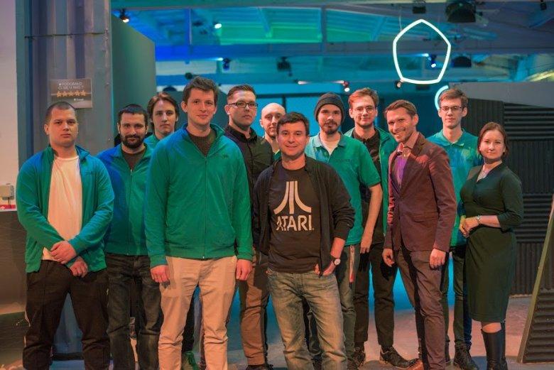 Ekipa DISCOVR z nowym inwestorem, Michałem Kicińskim, współtwórcą CD Projektu