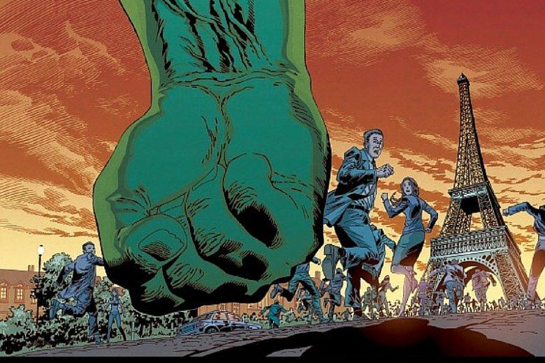 Pierwsza okładka Piotra Kowalskiego do Hulka.