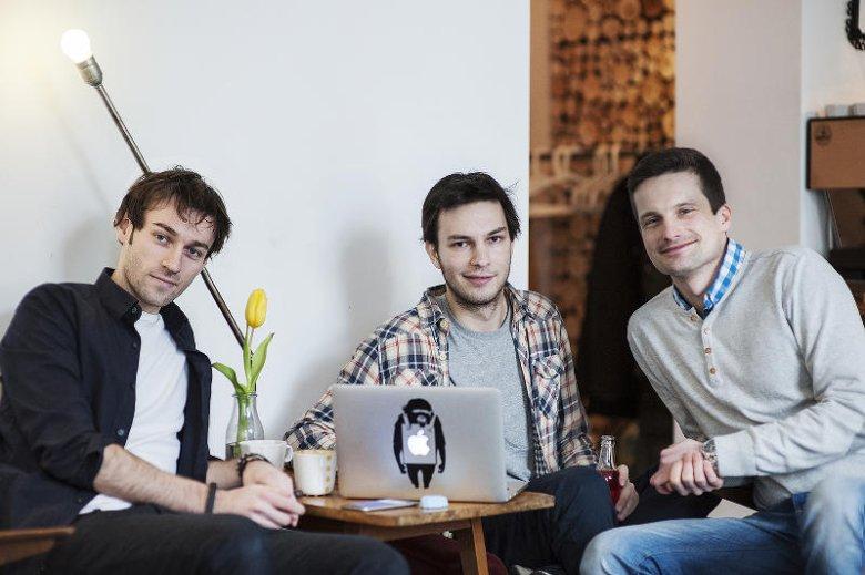 Troje ze współzałożycieli Everytap. Od lewej: Adam Pachucki, Kamil Łukasiewicz i Radek Sadurski.