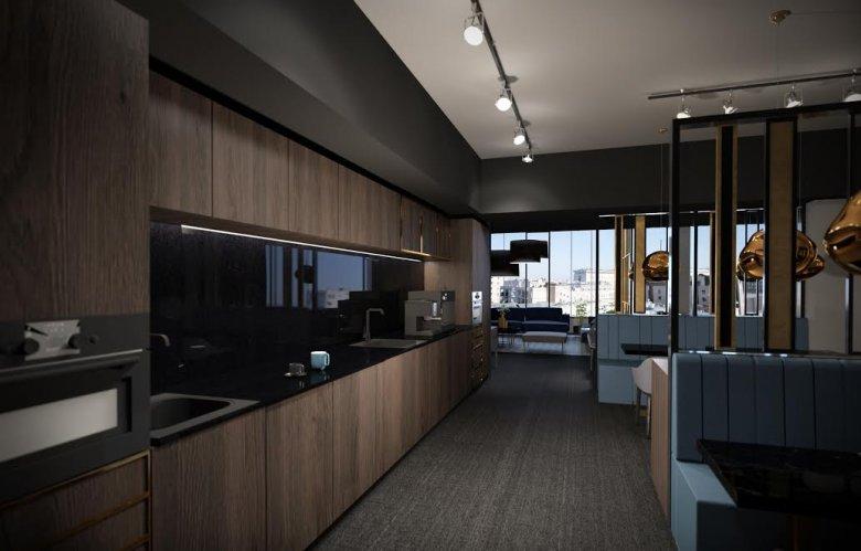 Przestrzeń kuchenna w Business Link Astoria