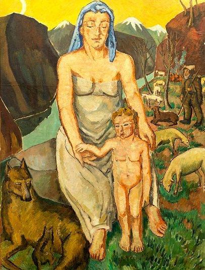 Mela Muter, Matka z dzieckiem,