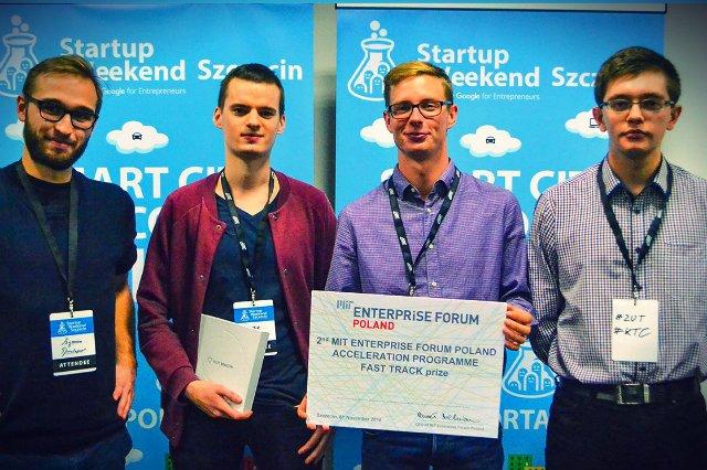 Zwycięzcy tegorocznego Startup Weekend Szczecin.