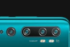 Xiaomi CC9 Pro, czyli przyszły Mi 10 Note uzbrojono w kamerę o rozdzielczości 108 Mpix. A to tylko jeden z pięciu aparatów, które można znaleźć na tylnym panelu urządzenia.