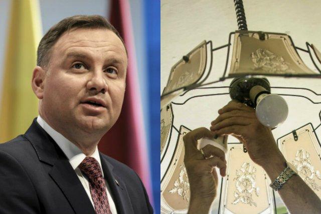 Energooszczędne żarówki zostały skrytykowane przez prezydenta Andrzeja Dudę