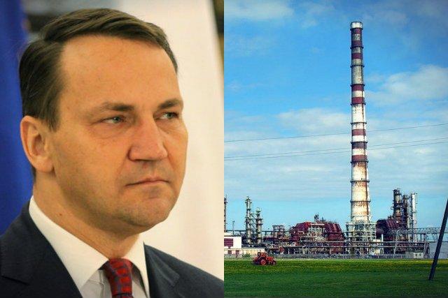 Radosław Sikorski doradzał byłemu prezesowi Orlenu sprzedaż rafinerii w Możejkach rosyjskiemu politykowi, powiązanemu z Władimirem Putinem