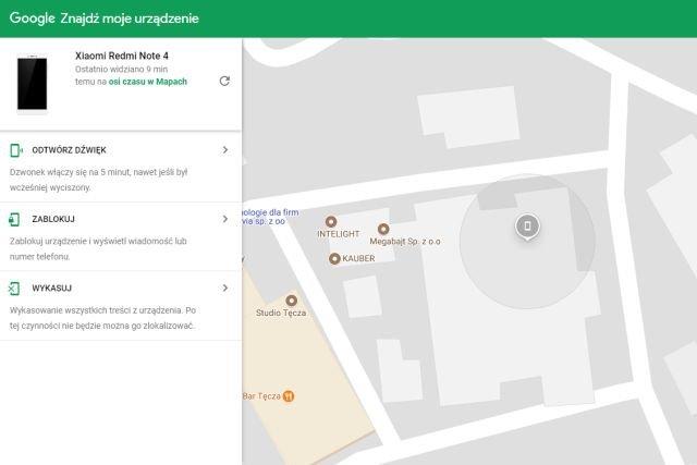 Wystarczy chwila, by Google sam znalazł nasz telefon - wyniki i opcje wyświetla na mapie