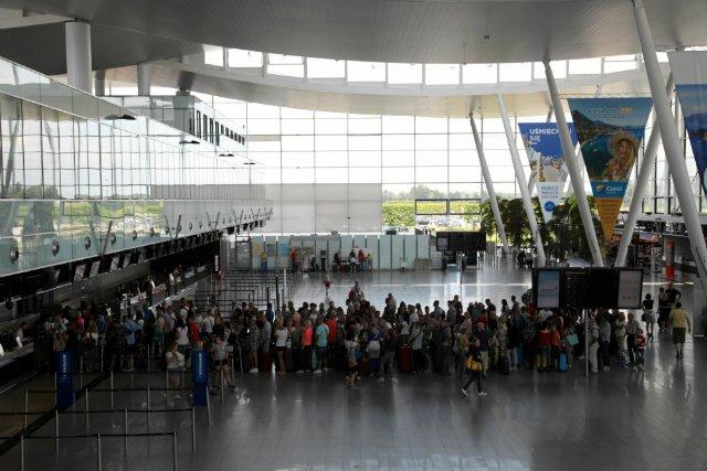 Lotnisko we Wrocławiu.