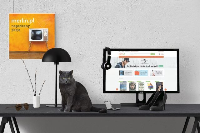 Nowi właściciele odświezyli nieco komunikację wizualną sklepu Merlin.pl