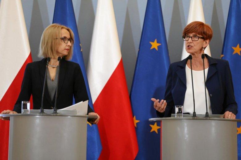 Teresa Czerwińska, minister finansów, oraz szefowa resortu pracy, Elżbieta Rafalska.