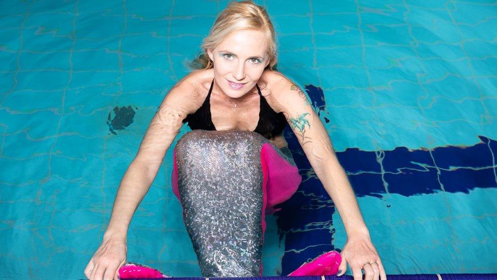 Magdalena Gębicka to pierwsza w Polsce instruktorka mermaidingu.