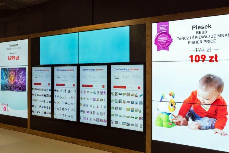 Interaktywne ekrany, aplikacje, nowoczesne sposoby dostawy.