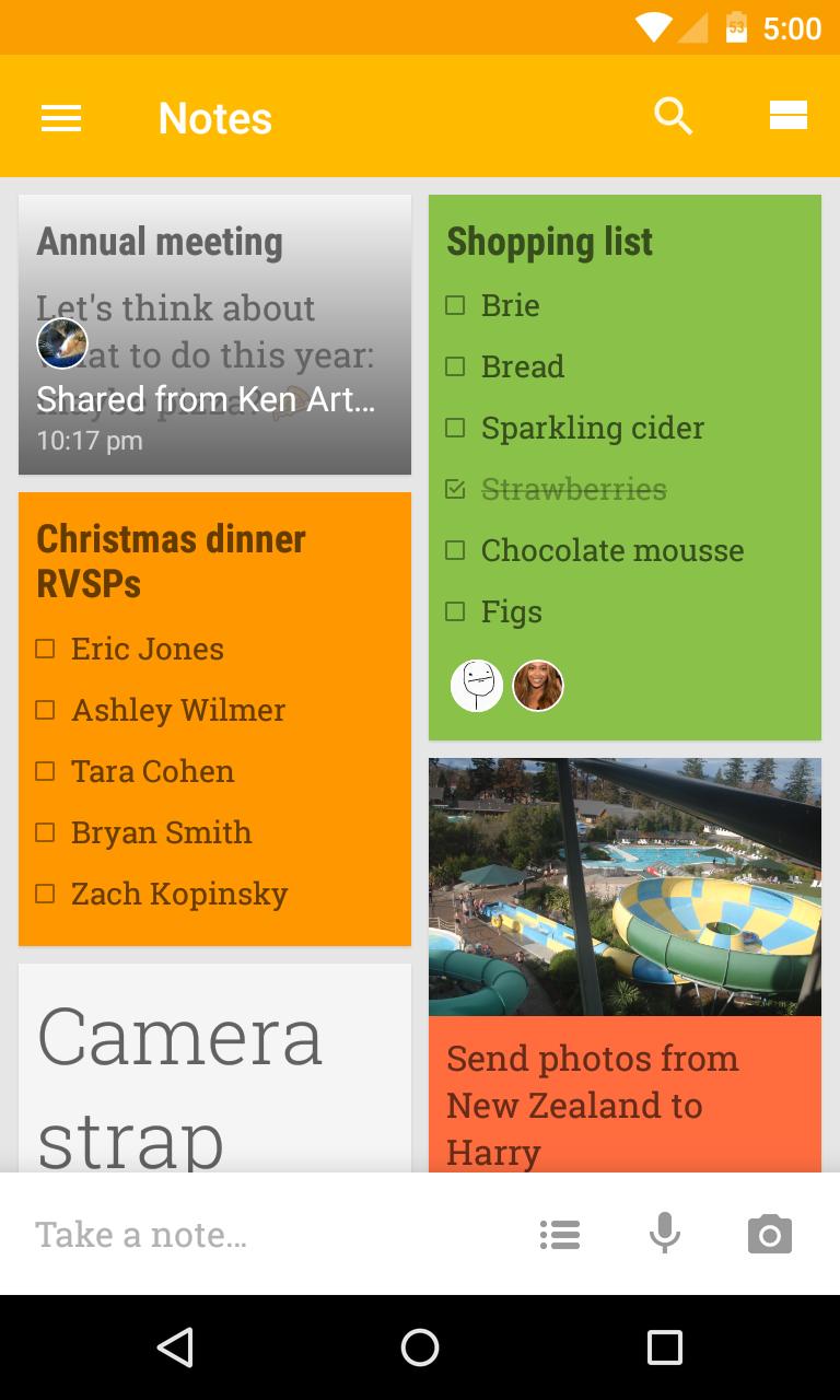 Tak wygląda aplikacja Google Keep