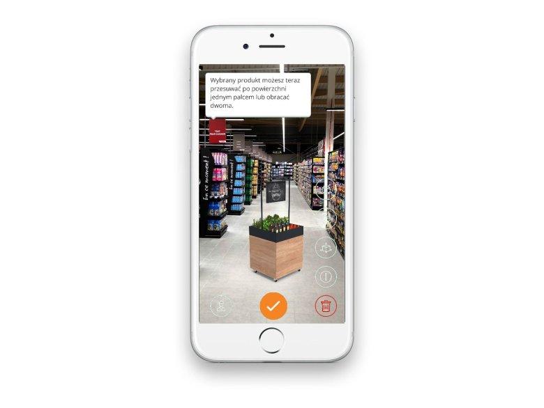 Aplikacja Shopfitting pozwala dopasować meble do dowolnego miejsca w przestrzeni.
