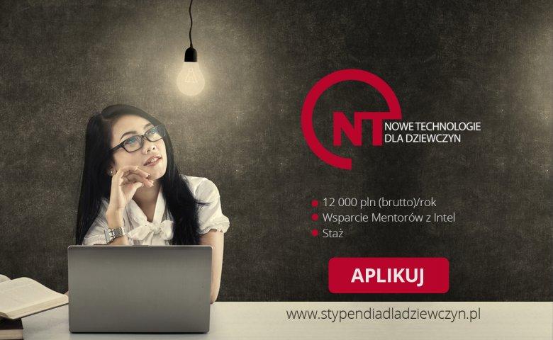 """Stypendium """"Nowe technologie dla dziewczyn"""""""