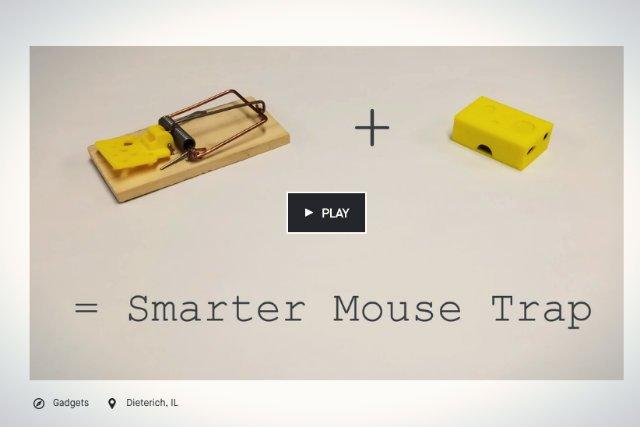 Istnieją projekty, które są bezdyskusyjnie głupie. Na przykład pułapka na myszy, która łączy się z domowym WiFi
