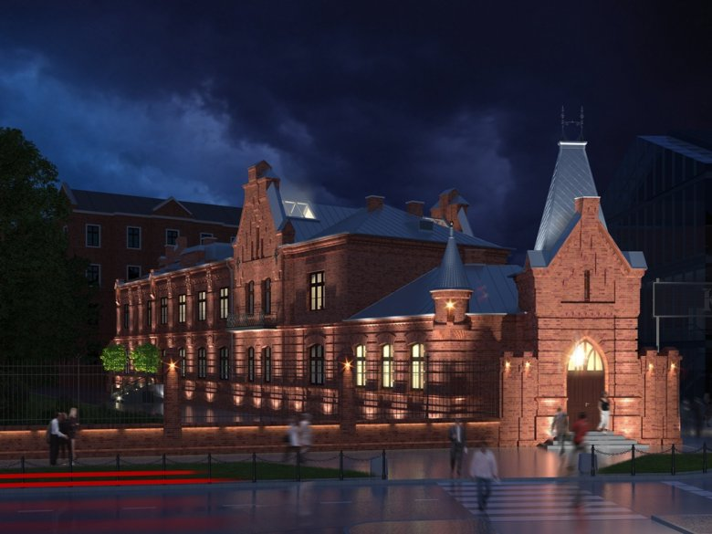 Wizualizacja dawnej fabryki wódki Koneser na warszawskiej Pradze. To tu będzie działał Campus Warsaw, którego otwarcie zaplanowano na drugą połowę listopada