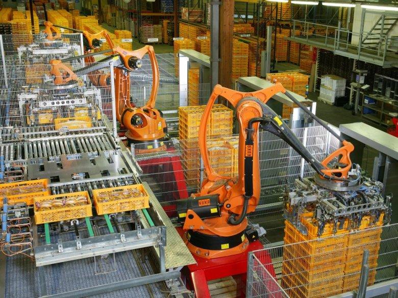 Roboty biorą udział w pakowaniu żywności