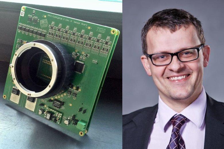 Prototyp kamery opracowany przez dr inż. Przemysława Sękalskiego.