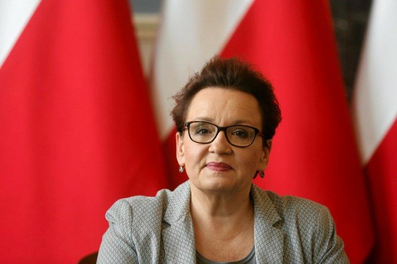 Minister edukacji narodowej, Anna Zalewska.