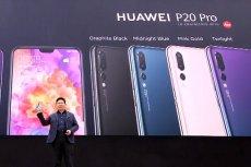 Richard Yu, szef Huawei podczas premiery modeli P20 i P20 Pro.