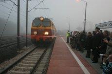 Centralna Magistrala Kolejowa na wysokości Włoszczowy
