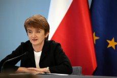 Maria Wasiak - Minister Infrastruktury i Rozwoju.
